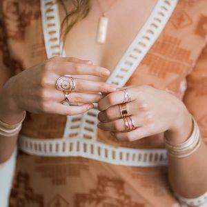 Anna Beck Rose Gold Smooth Metal Stacking Ring